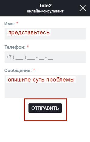 Помощь оператора в режиме онлайн